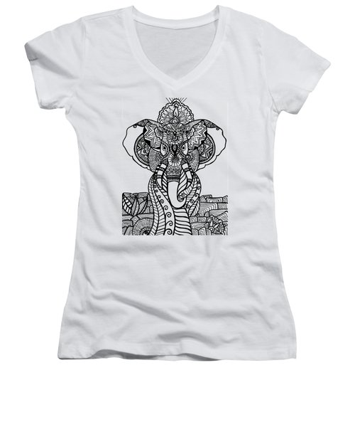 Mr. Elephante Women's V-Neck (Athletic Fit)