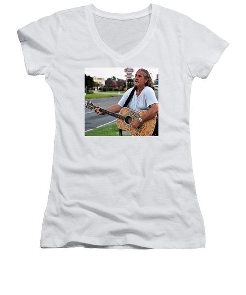 Mr. Terry Benoit Women's V-Neck T-Shirt (Junior Cut) by John Glass