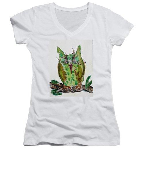 Mr.lime Owl Women's V-Neck T-Shirt