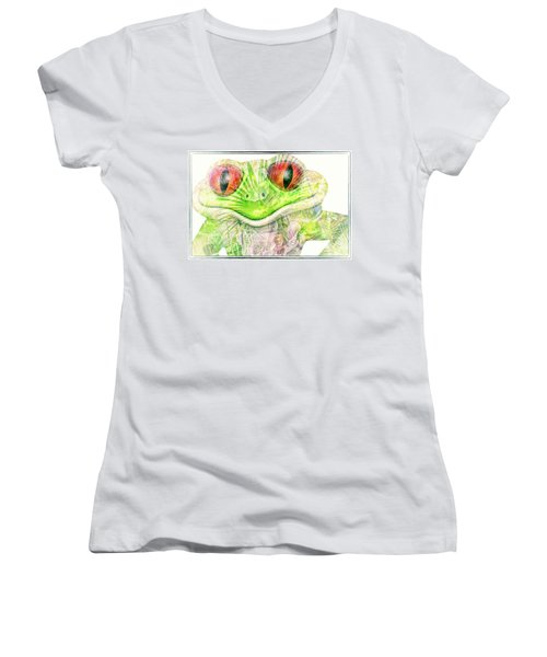 Mr Ribbit Women's V-Neck (Athletic Fit)