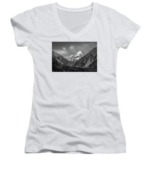 Mt Cook Wilderness Women's V-Neck (Athletic Fit)