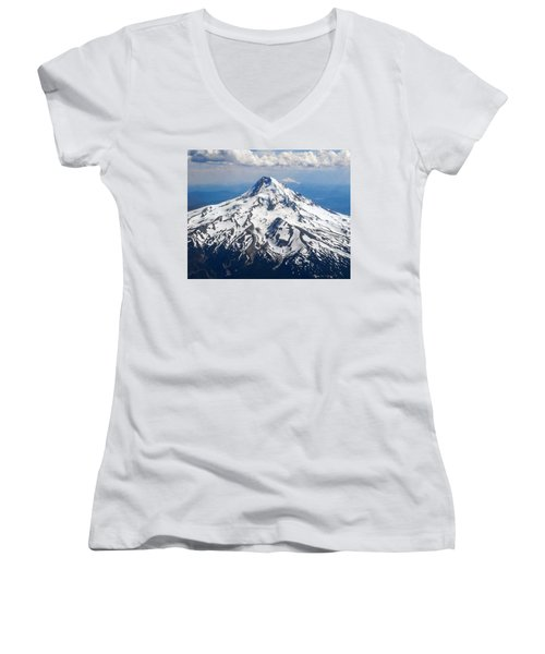 Mt. Hood From 10,000 Feet Women's V-Neck