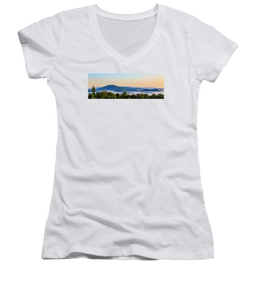 Mt. Jefferson Cloud Lake Women's V-Neck T-Shirt
