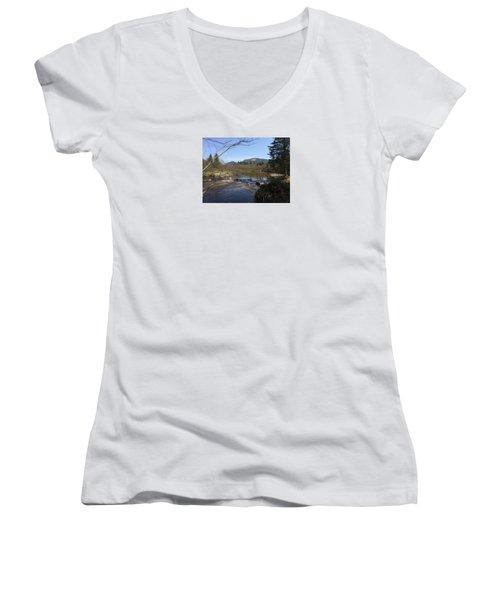 Mt. Katahdin Women's V-Neck T-Shirt
