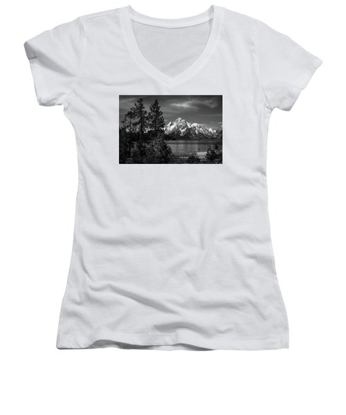Mt. Moran And Trees Women's V-Neck