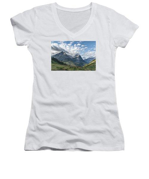 Mt. Oberlin From Logan Pass Women's V-Neck
