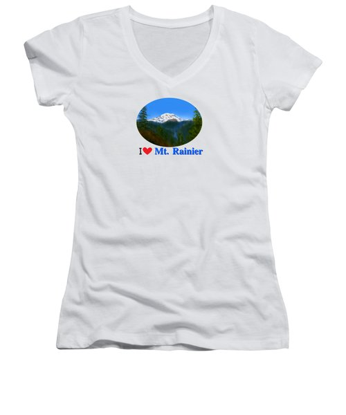 Mt Rainier Women's V-Neck