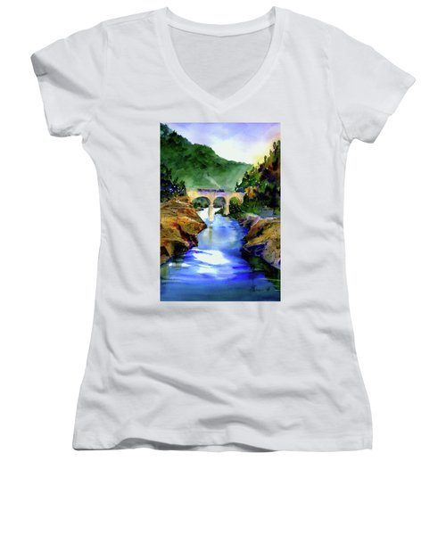 Mtn Quarries Rr Bridge Women's V-Neck