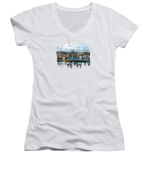 Mud Flats Women's V-Neck T-Shirt