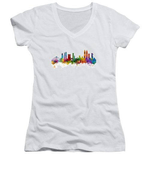 Mumbai Skyline India Bombay Women's V-Neck