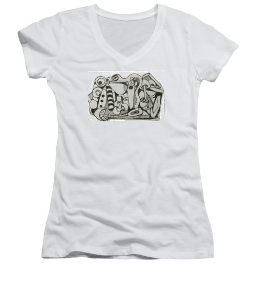 Mushroom Powered Engine 004 - Bellingham - Lewisham Women's V-Neck (Athletic Fit)