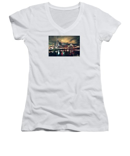 Music City Midnight Women's V-Neck (Athletic Fit)