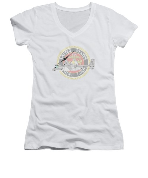 Mv-22bvmm-261 Women's V-Neck (Athletic Fit)