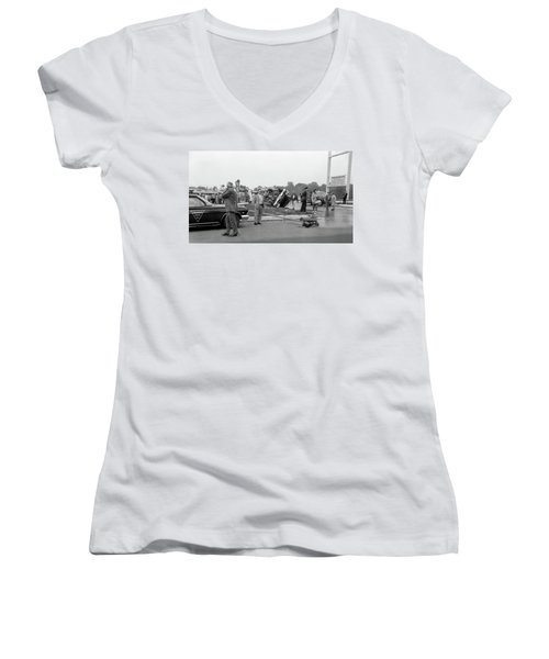 Mva At Shopping Center Women's V-Neck T-Shirt