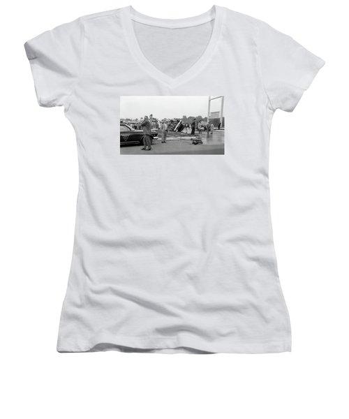 Mva At Shopping Center Women's V-Neck T-Shirt
