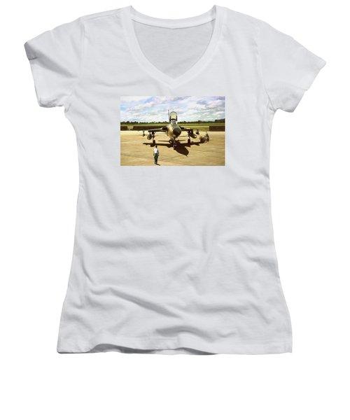 My Baby F-105 Women's V-Neck T-Shirt