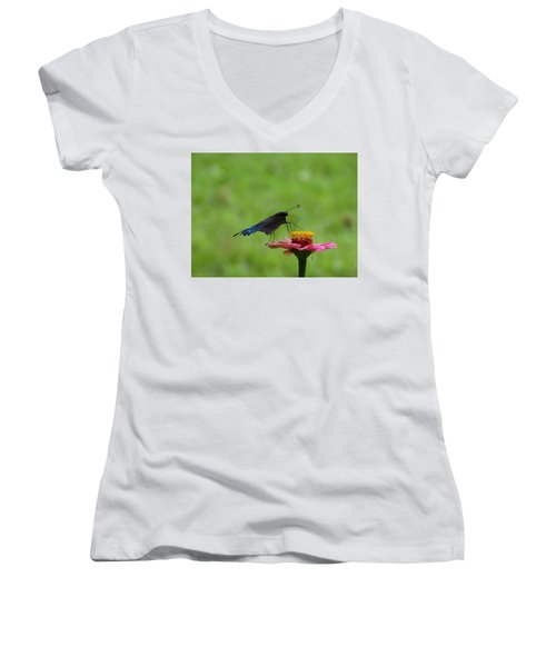 My Butterfly Women's V-Neck (Athletic Fit)