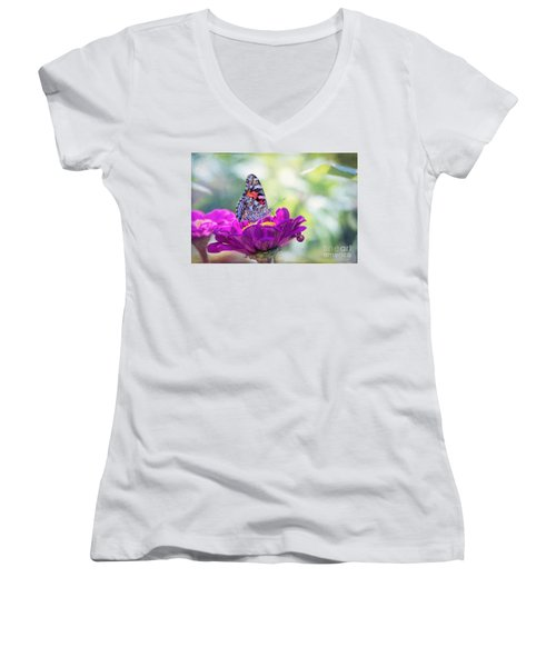 My Fair Painted Lady Women's V-Neck