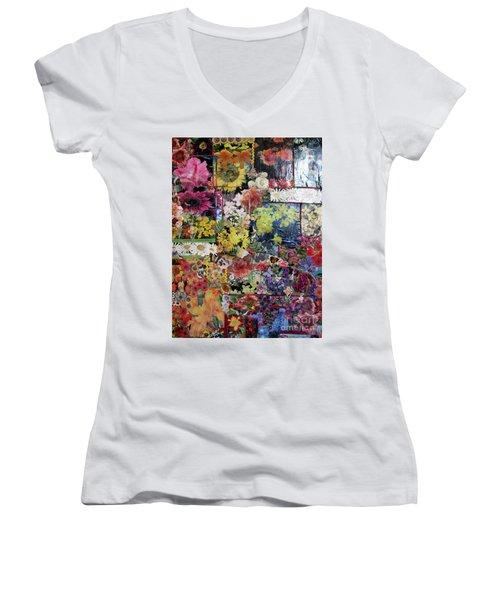 My Garden Women's V-Neck T-Shirt (Junior Cut) by Sandy McIntire