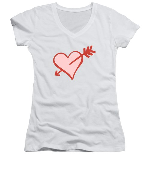 My Heart Women's V-Neck T-Shirt (Junior Cut) by Alice Gipson