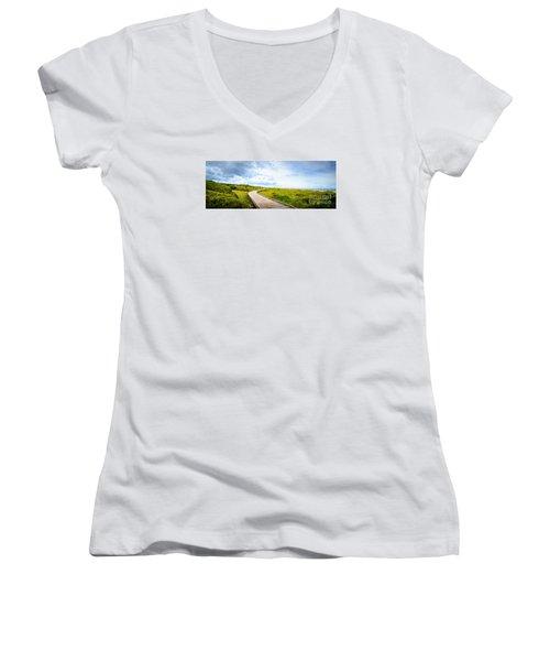Myrtle Beach State Park Boardwalk Women's V-Neck T-Shirt