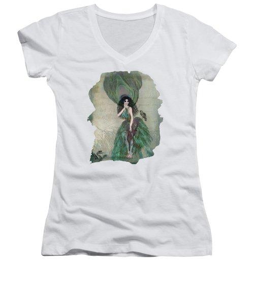 Mysterieuse Women's V-Neck T-Shirt