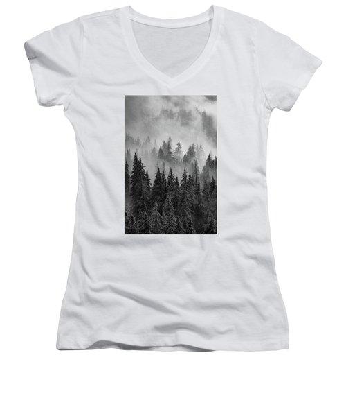 Women's V-Neck T-Shirt (Junior Cut) featuring the photograph Mystic  by Dustin LeFevre