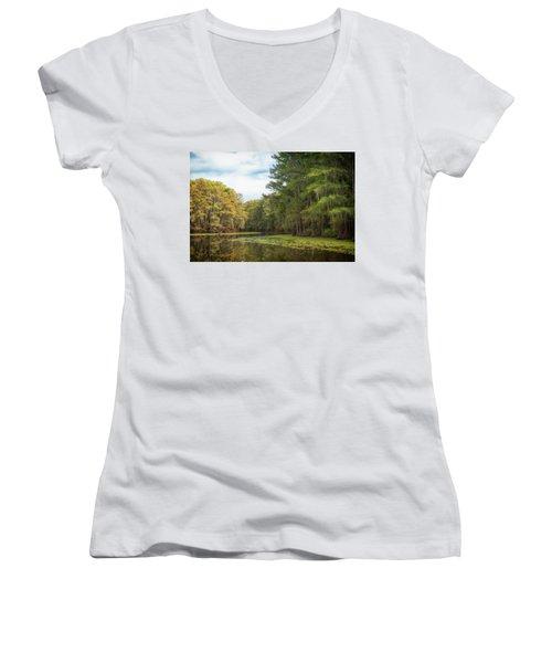 Mystic River Women's V-Neck T-Shirt