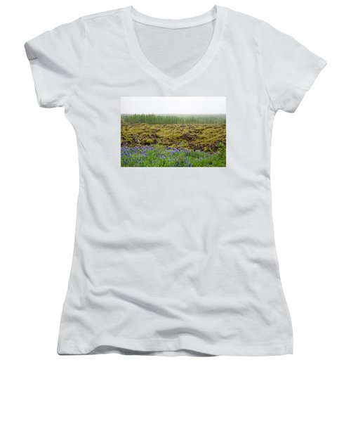 Women's V-Neck featuring the photograph Mystical Island by Matthew Wolf