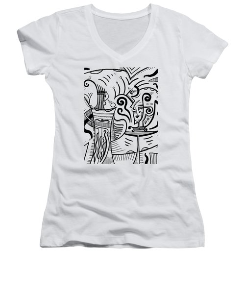 Mystical Powers Women's V-Neck T-Shirt (Junior Cut) by Sotuland Art