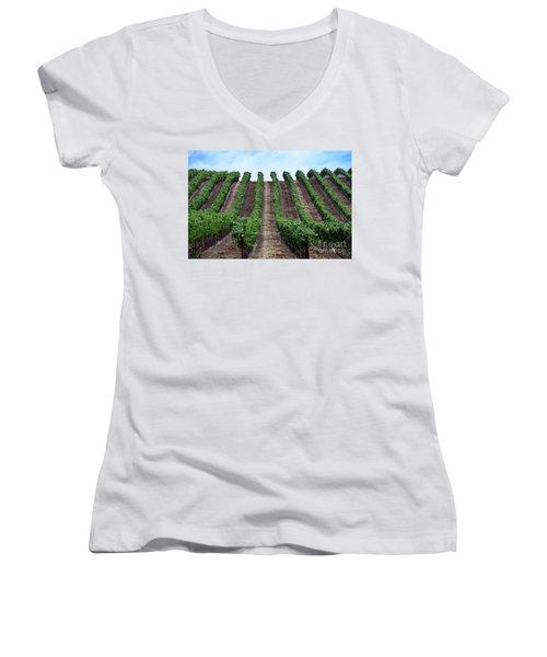 Napa Vineyards Women's V-Neck T-Shirt