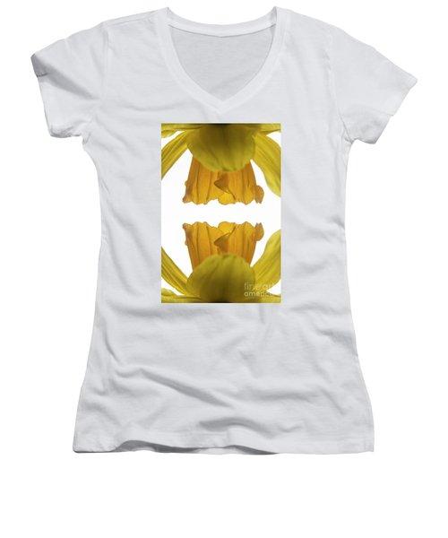 Narcissus Women's V-Neck T-Shirt (Junior Cut) by Ana Mireles