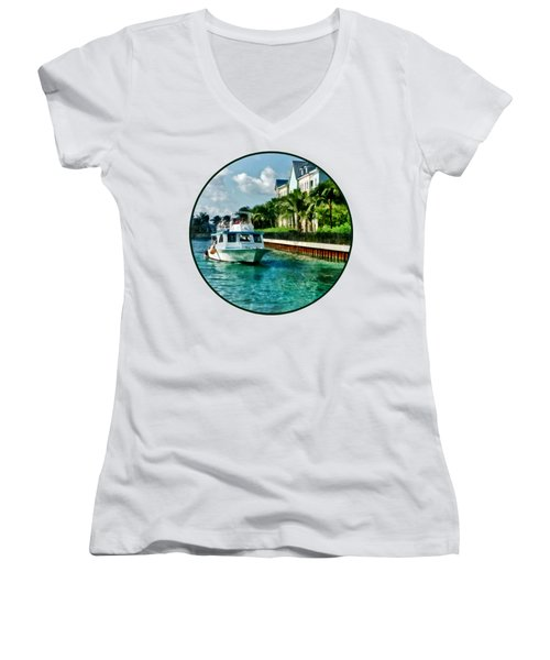 Bahamas - Ferry To Paradise Island Women's V-Neck T-Shirt