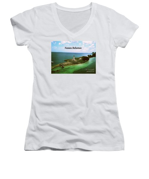 Nassau Women's V-Neck T-Shirt (Junior Cut) by Gary Wonning