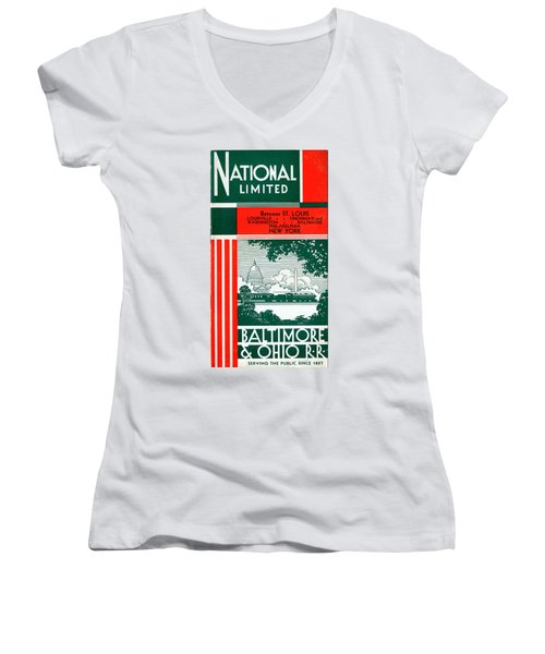 National Limited Women's V-Neck (Athletic Fit)