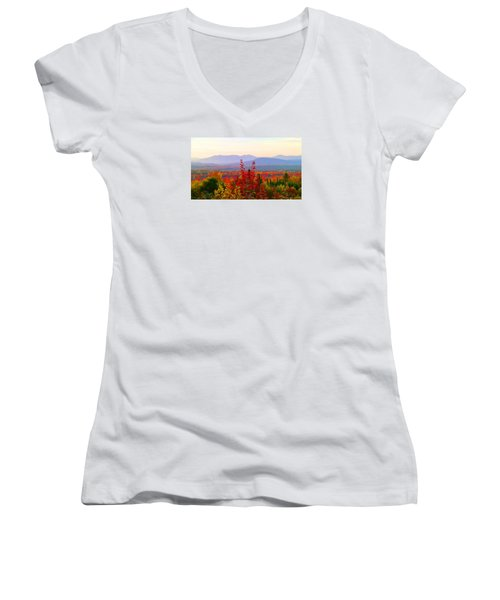 National Scenic Byway Women's V-Neck (Athletic Fit)