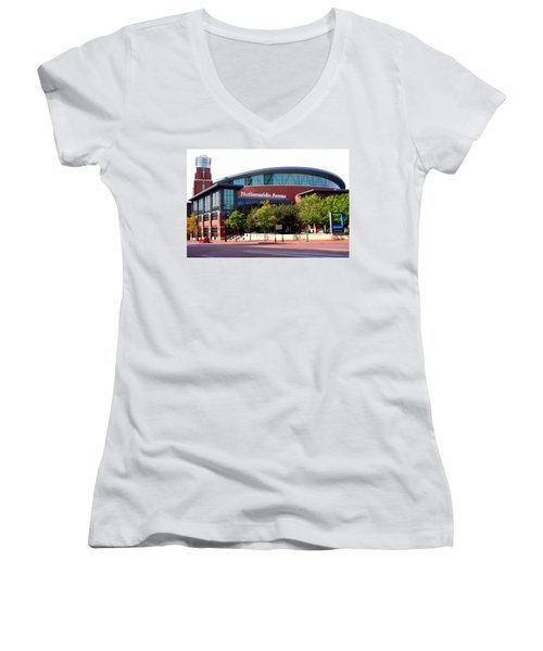 Nationwide Arena Women's V-Neck (Athletic Fit)