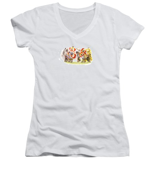 Native Color In Motion Women's V-Neck