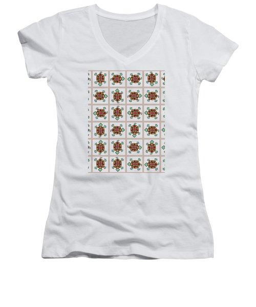 Native American Pattern Women's V-Neck T-Shirt