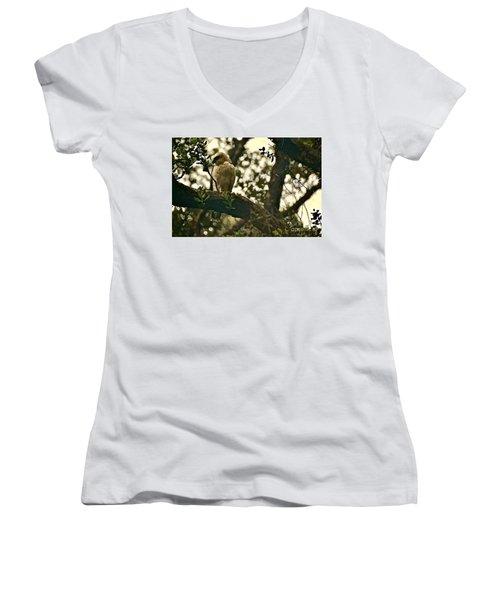 The Golden 'io Hawaiian Hawk Women's V-Neck T-Shirt