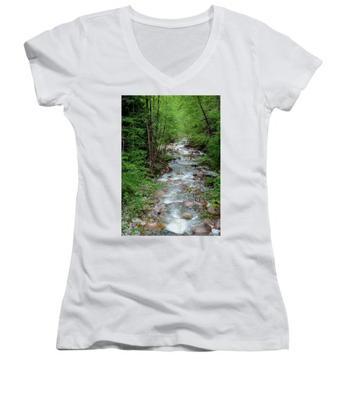 Naturally Pure Stream Backroad Discovery Women's V-Neck