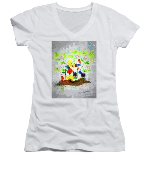Nature Fantasy Trees Women's V-Neck T-Shirt