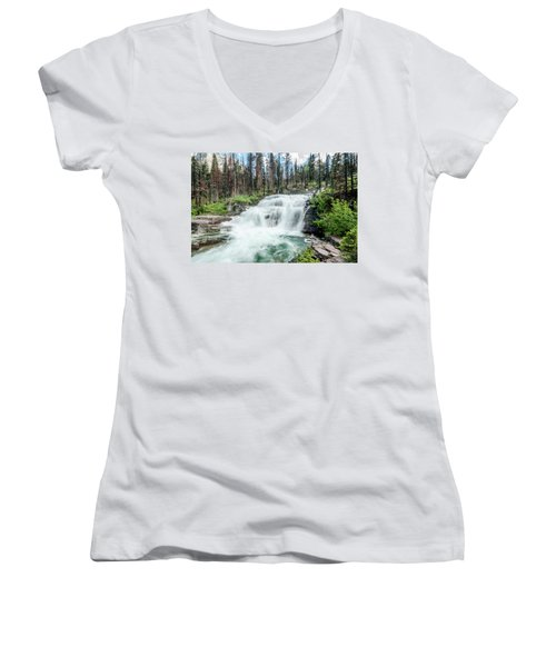 Nature Finds A Way Women's V-Neck (Athletic Fit)