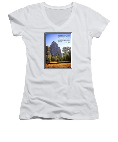 Women's V-Neck T-Shirt (Junior Cut) featuring the photograph Natures Cathedral by Glenn McCarthy Art and Photography