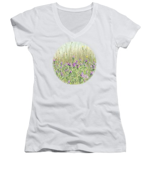 Nature's Graffiti Women's V-Neck (Athletic Fit)