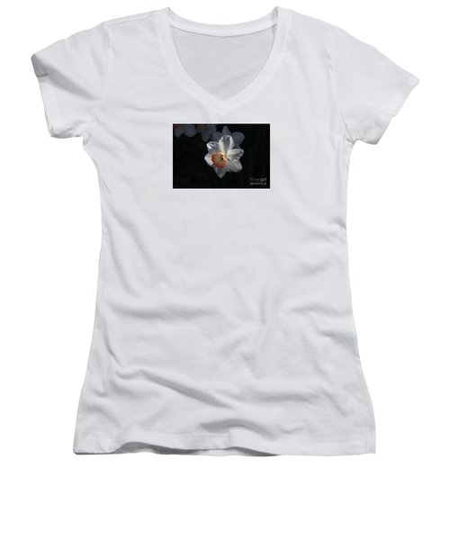 Nature's Reflection Women's V-Neck T-Shirt (Junior Cut) by Marilyn Carlyle Greiner