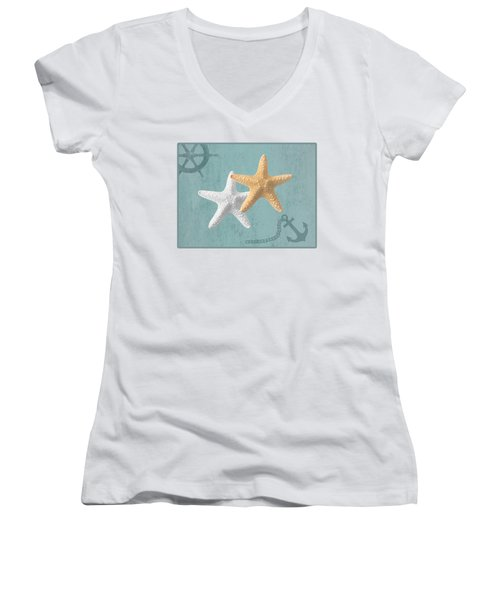 Nautical Stars Women's V-Neck