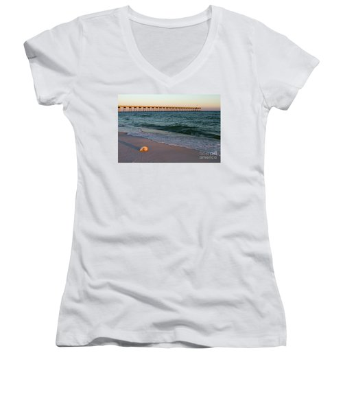 Nautilus And Pier Women's V-Neck T-Shirt