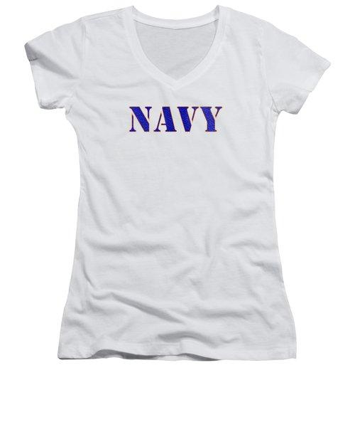 Navy Women's V-Neck (Athletic Fit)