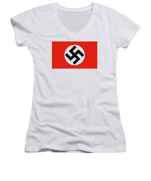 Nazi Flag 1920-1945 Women's V-Neck T-Shirt